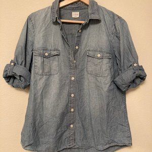 J.Crew The Perfect Chambray Shirt - size M